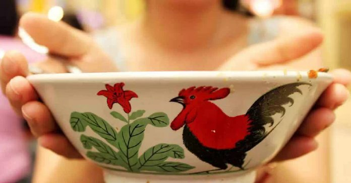Bowl, Chinese, Rooster