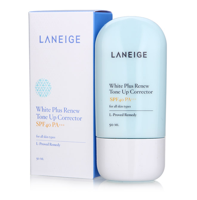 最好的防嗮护肤品 Laneige White Plus Renew Tone Up Correcto